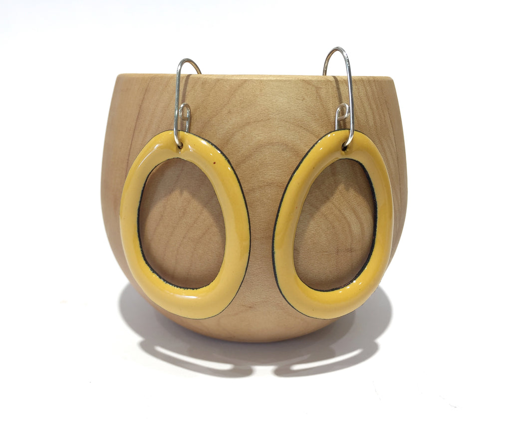 Enamel Hoop Earrings - Jenna O'Brien