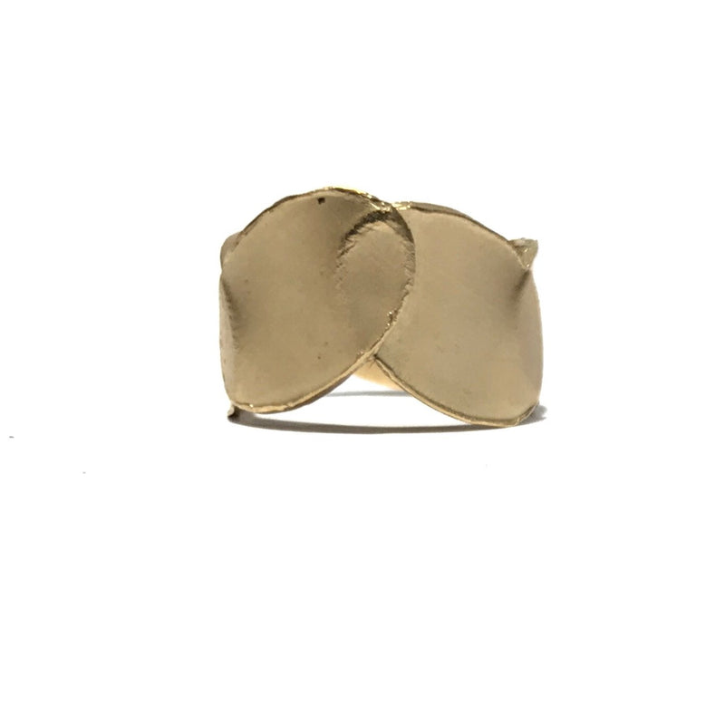 Petal Layer 9ct Yellow Gold 12mm Ring - Louise Fischer