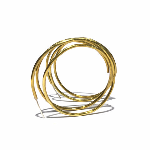 Brass Spiral Hoops - Jane Hodgetts