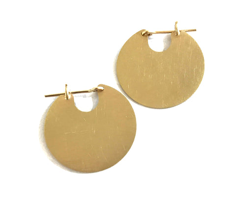 9ct Gold U Discs Earrings - Cass Partington