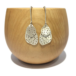 Two Layer Silver Earrings - Shabana Jacobson