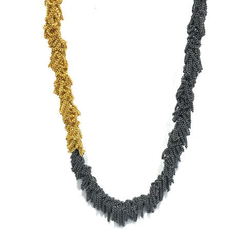 Tassel Two Tone Necklace - Tip to Toe