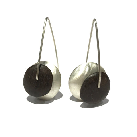 Satin Earrings with Ancient Red Gum - Sarah Bourke