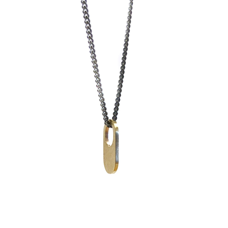 18ct Yellow Gold Bus Stop Pendant - Cass Partington