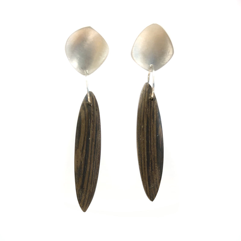 Needle Drop Studs Wenge - Sarah Bourke