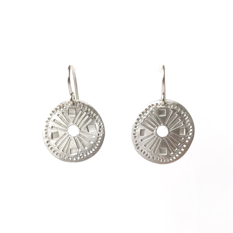 Muse Silver Earrings Round with Hole - Milly Thomas