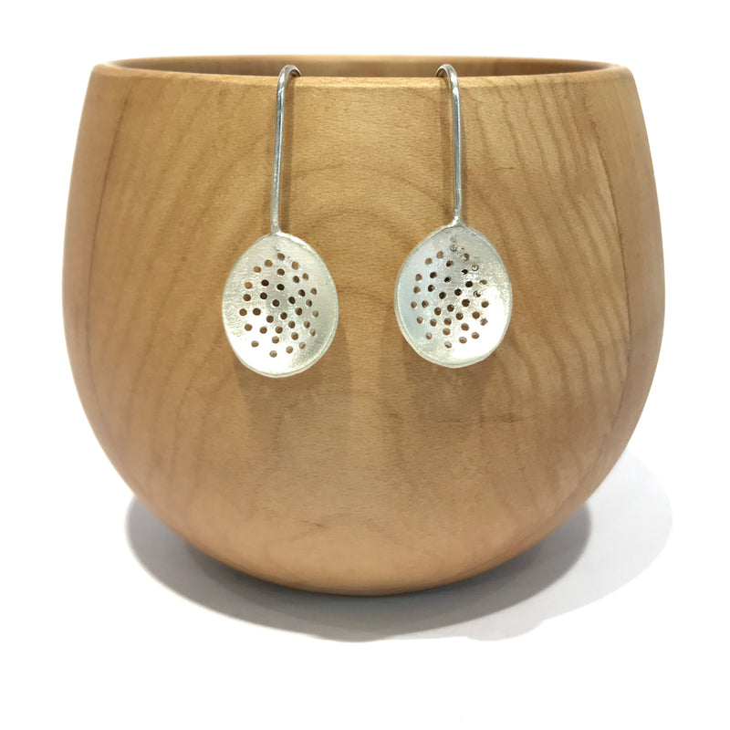 Oval Perforated Earrings - Shabana Jacobson