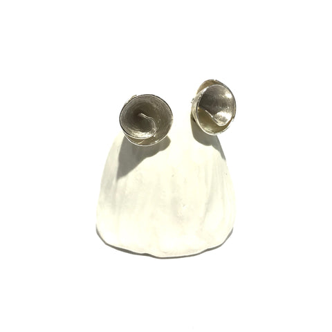 Tiny Flower Cone Silver Studs - Tip to Toe