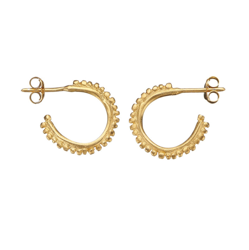 Flora Halo Gold Hoops Small - Shabana Jacobson