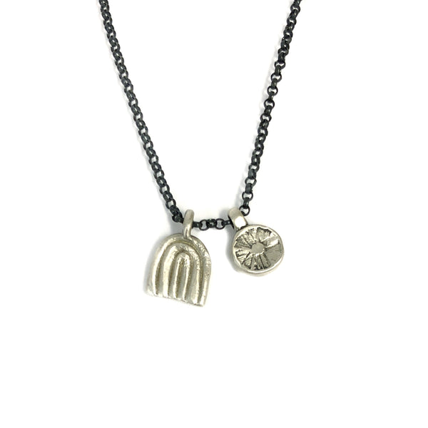 Chroma Necklace Silver - Milly Thomas
