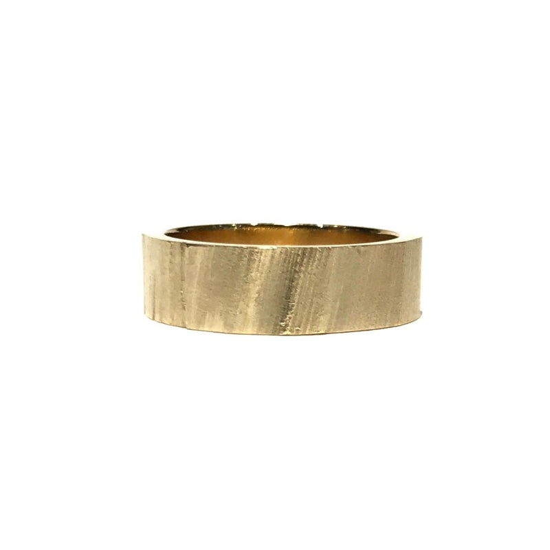 Textured 9ct Yellow Gold Ring - Louise Fischer