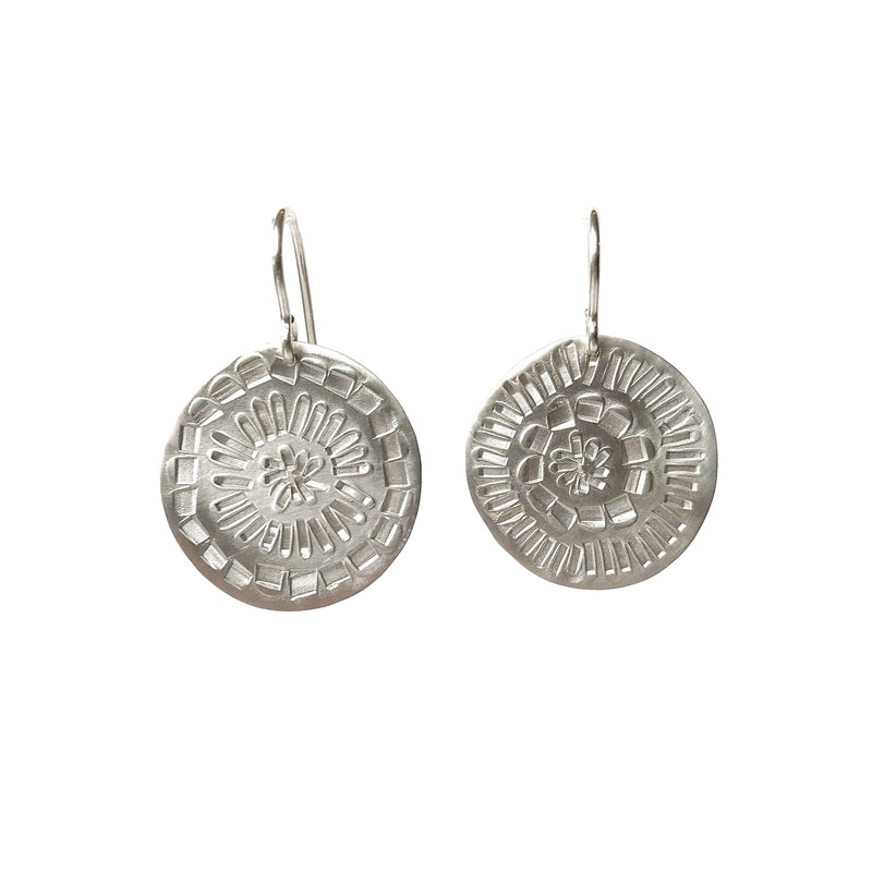 Muse Silver Earrings Round - Milly Thomas