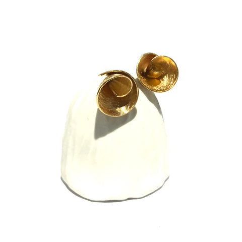 Tiny Flower Cone Gold Studs - Tip to Toe