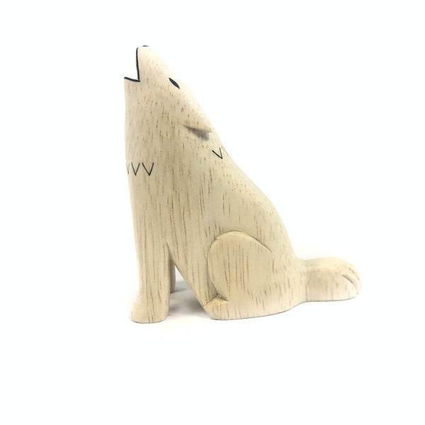 Wooden Carved Wolf - T-Lab