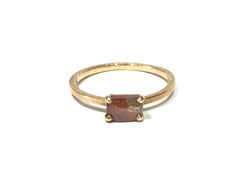 Stacking Oval Opaque Diamond Ring - Jennifer Dawes
