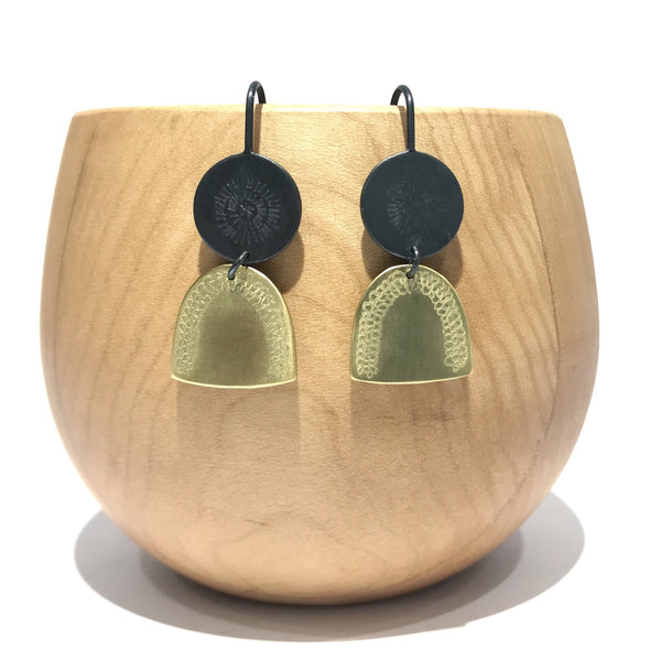 Mini Disc and Arch Earrings - Milly Thomas