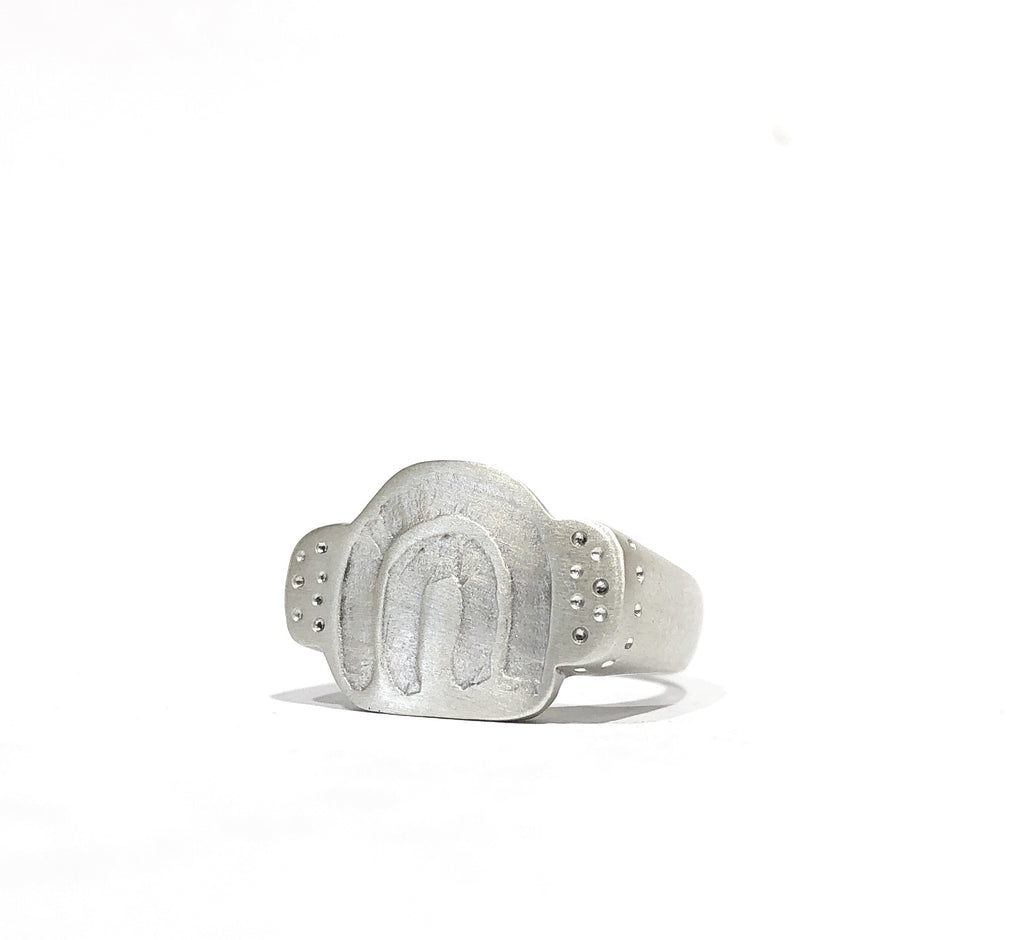 Carved Rainbow Ring Silver - Emily Thomas