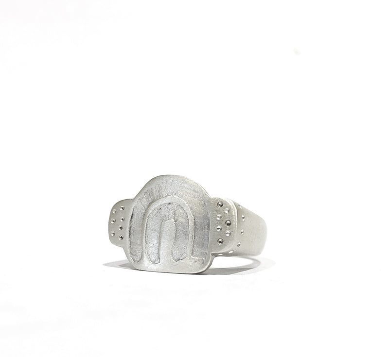 Carved Rainbow Ring Silver - Milly Thomas