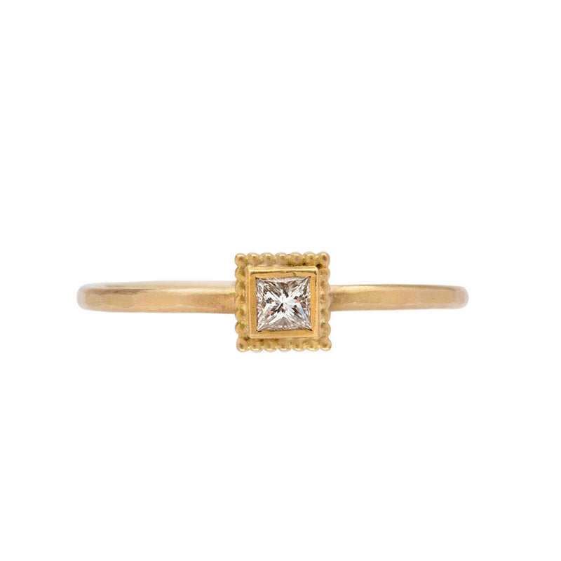 Rosecut Square Diamond Ring - Ananda Khalsa