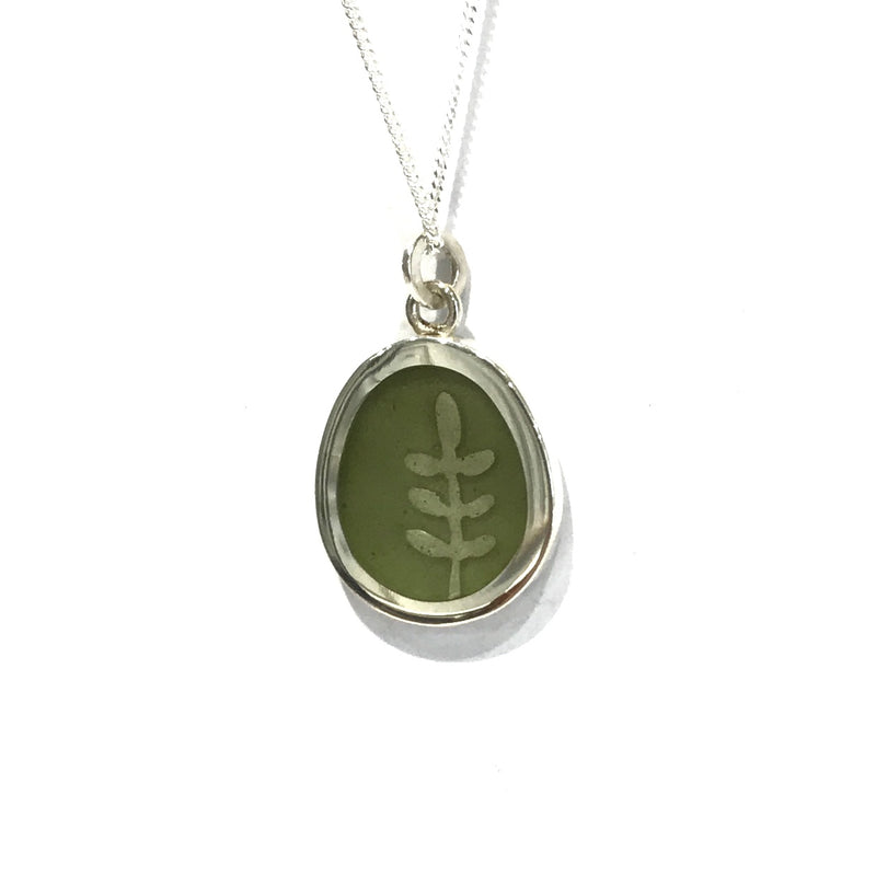 Green Fern Necklace - Christine Battochio
