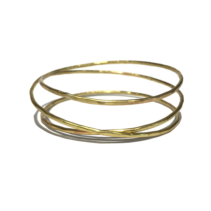 Three Loop Infinite Brass Bangle - Jane Hodgetts