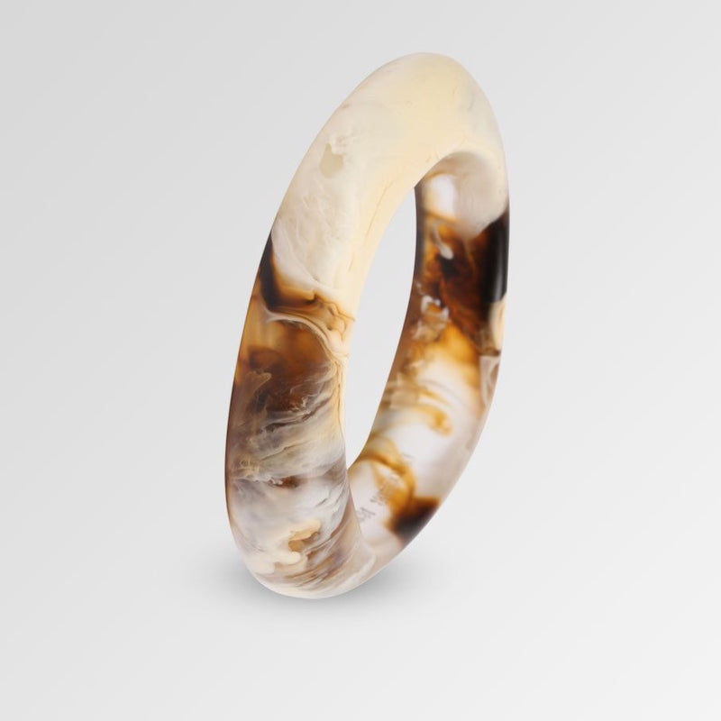 Small Irregular Bangle in Light Horn - Dinosaur Designs