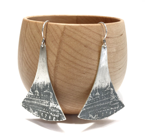 Large Textured City Earrings - Shabana Jacobson