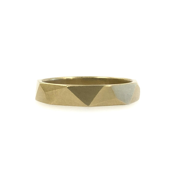 Asymmetrical Facets 9ct Yellow Gold Ring - Ash Hilton