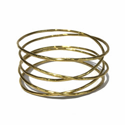 Five Loop Infinite Brass Bangle - Jane Hodgetts