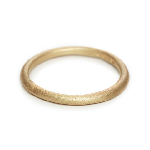 Round Profile Gold Band - Ruth Tomlinson