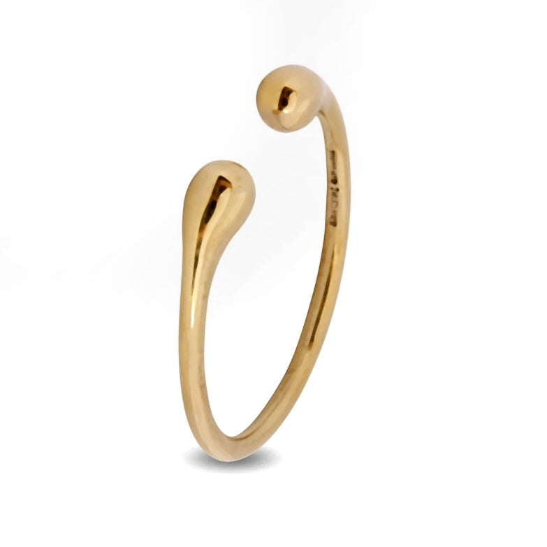 Wishbone Rock Bangle Brass - Dinosaur Designs
