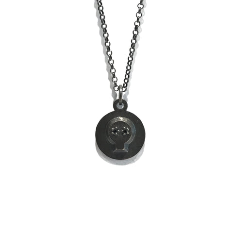Scull Charm Necklace -  Erica Bello