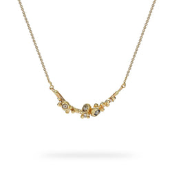 Champagne Diamond Cluster Bar Necklace - Ruth Tomlinson