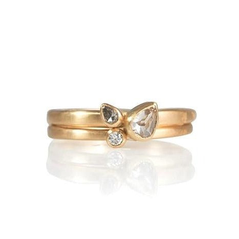 Double Diamond Tear Ring - Monica Marcella