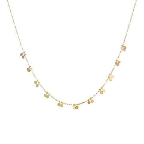 Little Double Dots Gold Necklace - Sia Taylor
