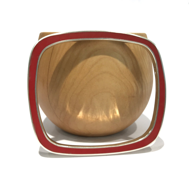 Irregular Square Two Colour Bangle - Christine Battochio