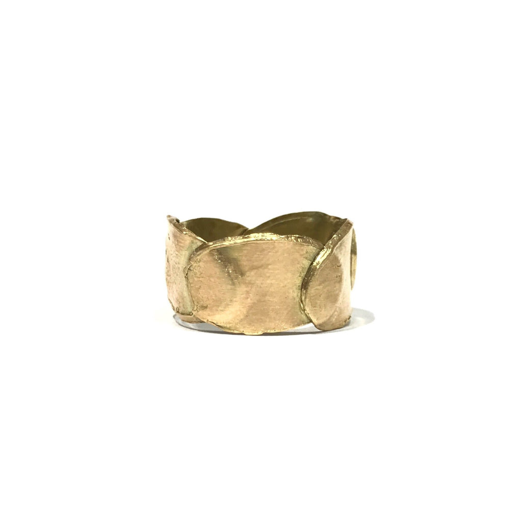 Petal Layer 9ct Yellow Gold Ring - Louise Fischer