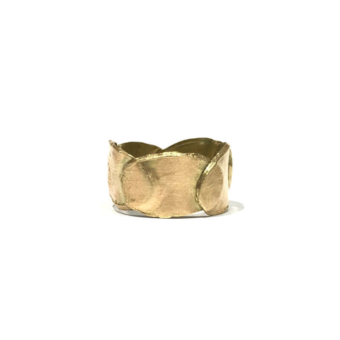Petal Layer 9ct Yellow Gold 10mm Ring - Louise Fischer