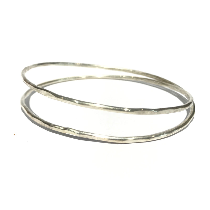 Two Loop Infinite Silver Bangle - Jane Hodgetts