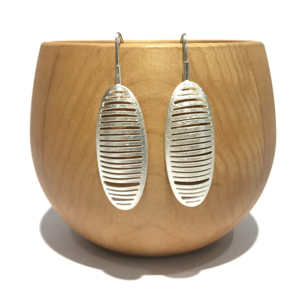 Ribbed Elongated Oval Drops - Tip to Toe