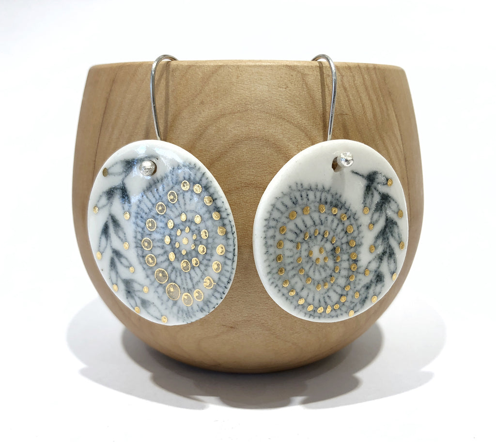 Porcelain Flan Earrings - Pilar Rojas