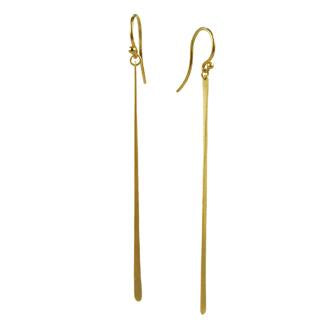 Single Fringe Drop Earrings in 14ct gold - Carla Caruso