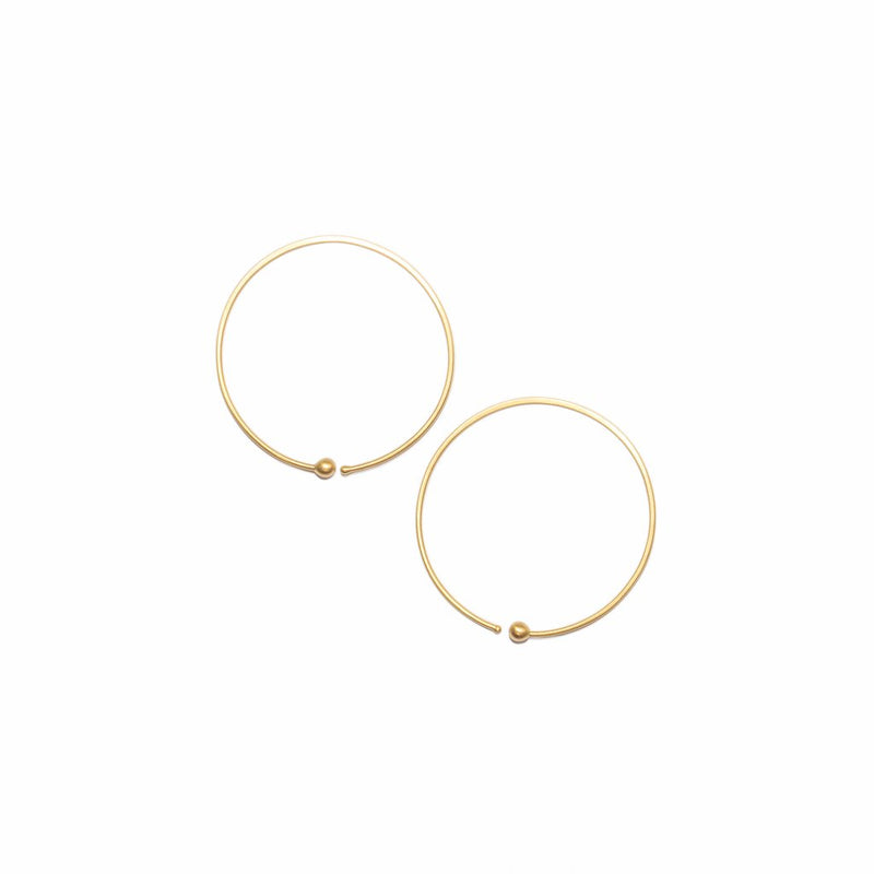 Loop Loop Earrings 14ct gold - Carla Caruso
