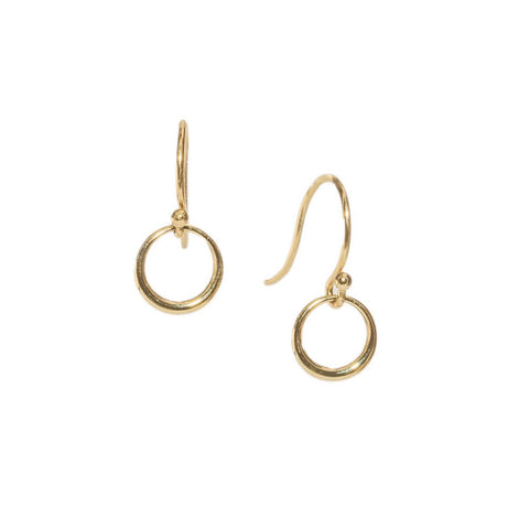 Mini Eclipse Drop Earrings in 14ct gold - Carla Caruso
