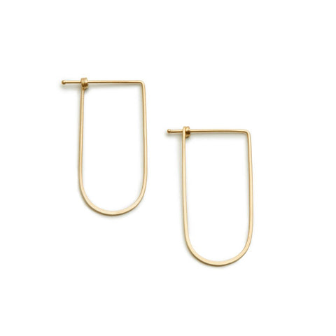 Small Arch Dainty Hoop in 14ct gold - Carla Caruso