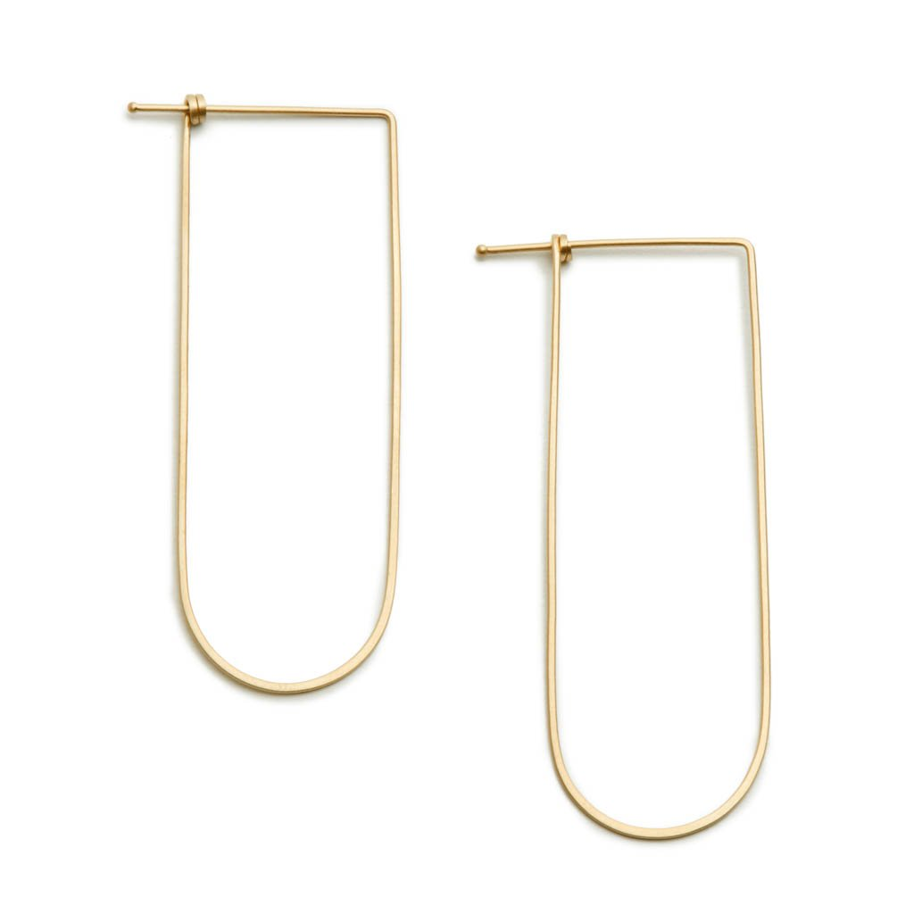 Arch Dainty Hoop in 14ct gold - Carla Caruso