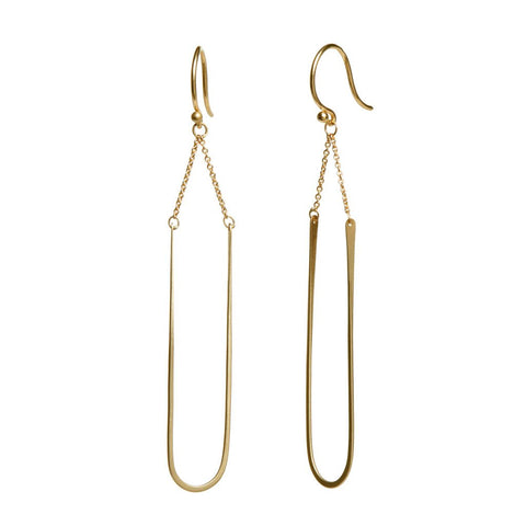 Modern Arch Earring in 14ct gold - Carla Caruso