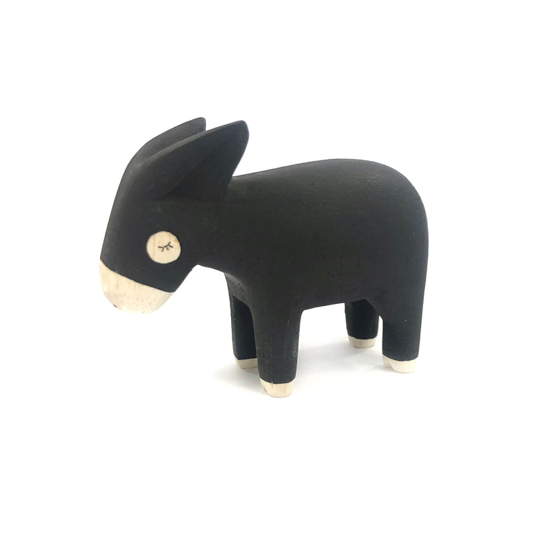Wooden Carved Donkey - T-Lab