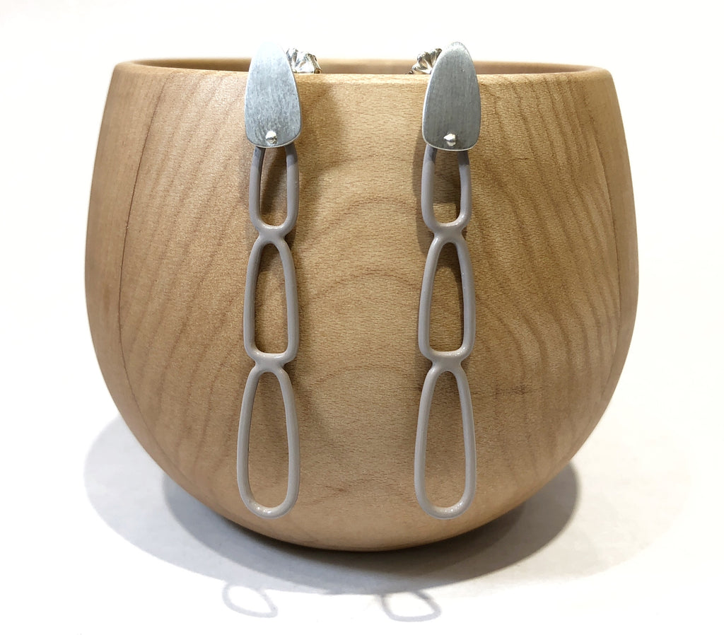 Oval Drop Earrings - Ella Calas