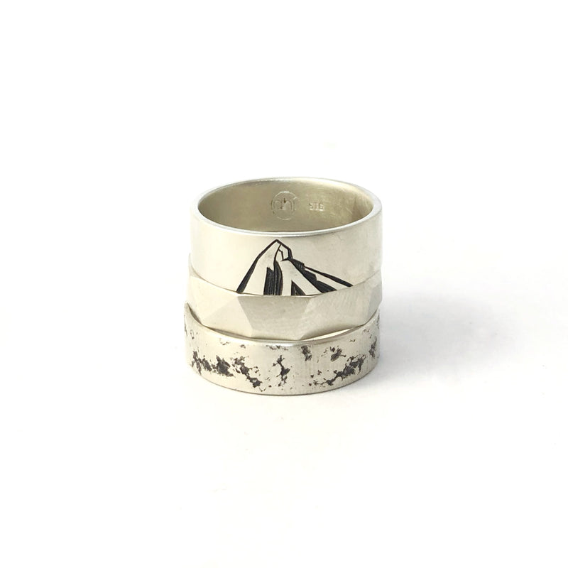 Distressed Silver Ring - Ash Hilton